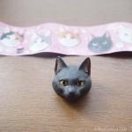 海洋堂「カプセルエース ネコバッジ」の黒猫をゲットしました