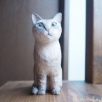 サバトラ猫さんの木彫り猫を作りました