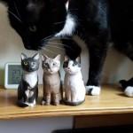 3匹の木彫り猫のご感想
