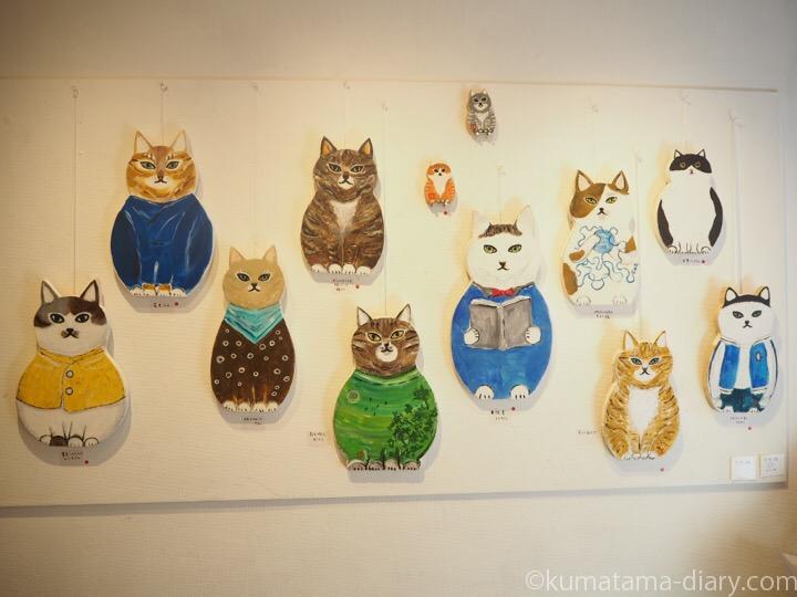 くまくら珠美個展木型猫