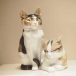 「マイセン動物園展」で可愛い猫の置物を見ました