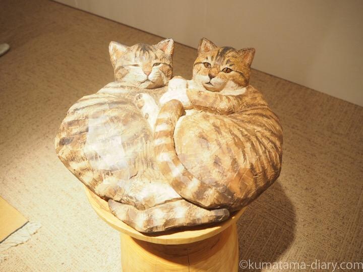 はしもとみお木彫り猫