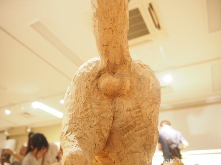 木彫り猫シナモンくんにゃんたま