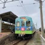 【西鉄貝塚線】猫のラッピング電車「にゃん電」に乗りました