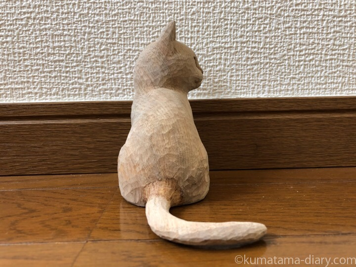 木彫り猫しっぽ