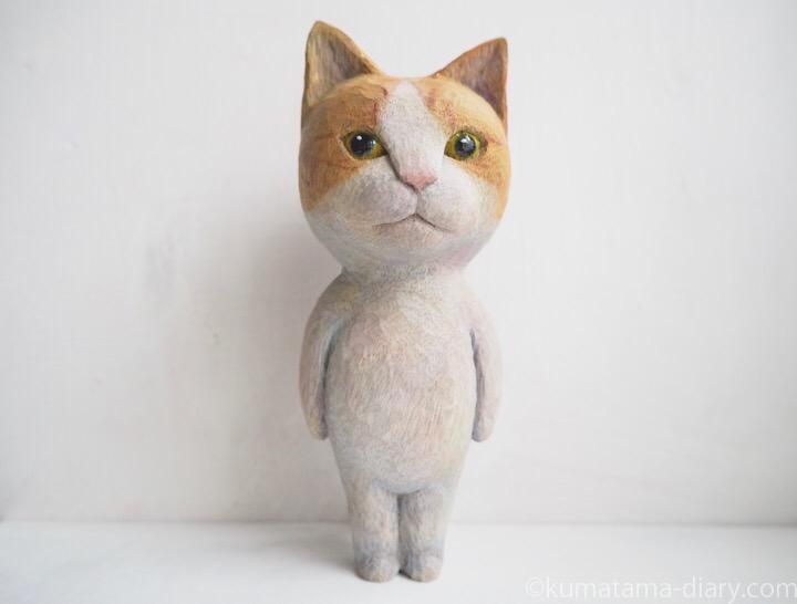 たまきの木彫り猫