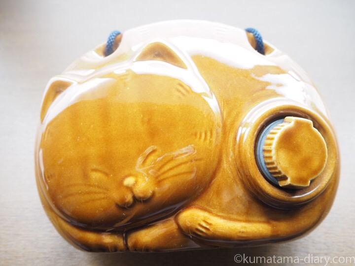 猫型陶器湯たんぽ