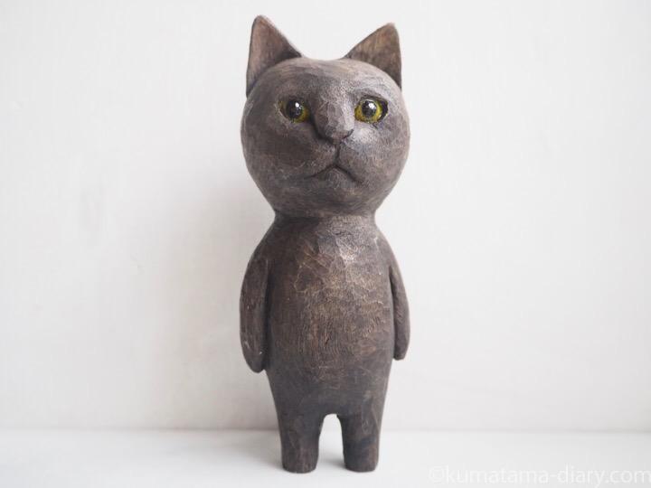 ふみおの木彫り猫