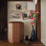 【月命日】「ペットの木製骨壺ケース」と毛玉ボール