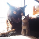 黒猫さんの木彫りを作りました