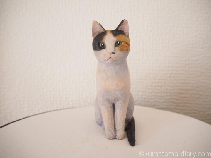 三毛猫木彫り猫
