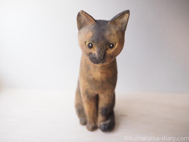 木彫り猫サビ猫さん
