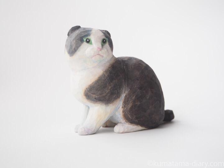 スコティッシュ木彫り猫
