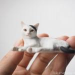 超リアルな猫フィギュア「ART IN THE POCKET 森口修の猫 フィギュアマスコット」全4種をゲット