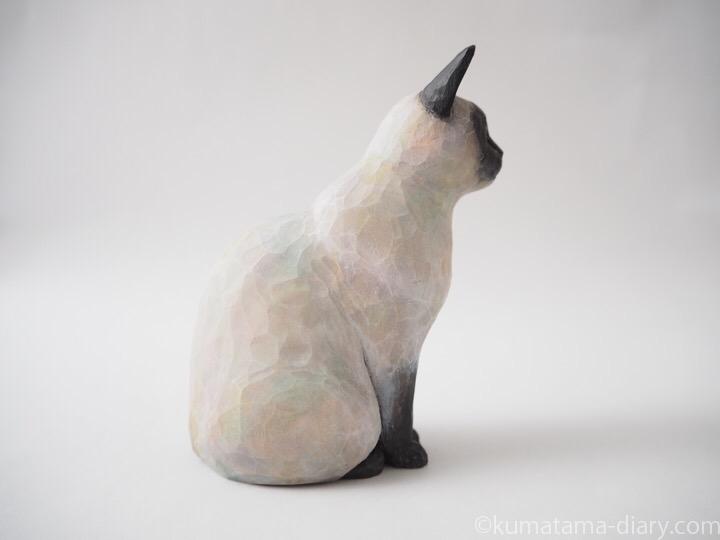 シャム猫木彫り猫右