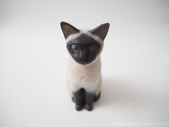 シャム猫木彫り猫
