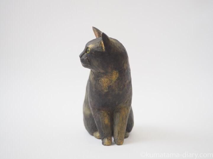 サビ猫木彫り猫