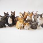 木彫り猫をまず100個作ります