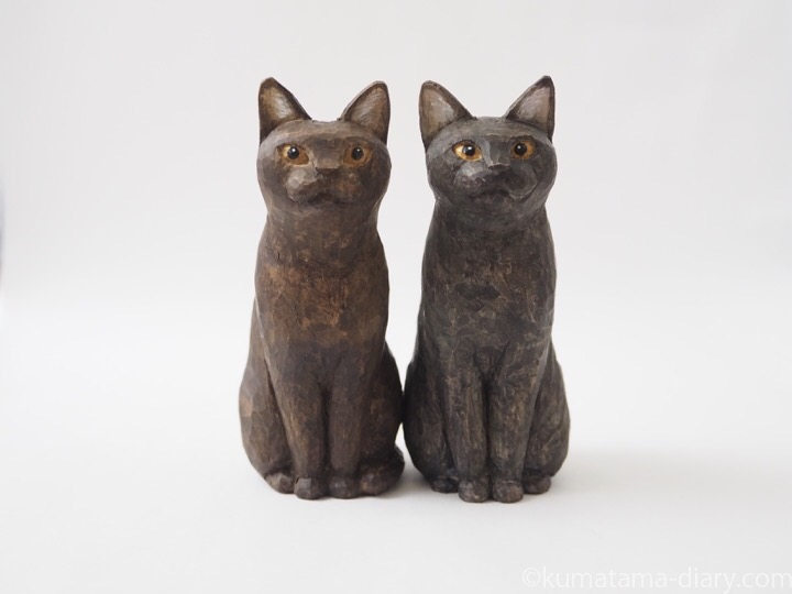 バーミーズ木彫り猫