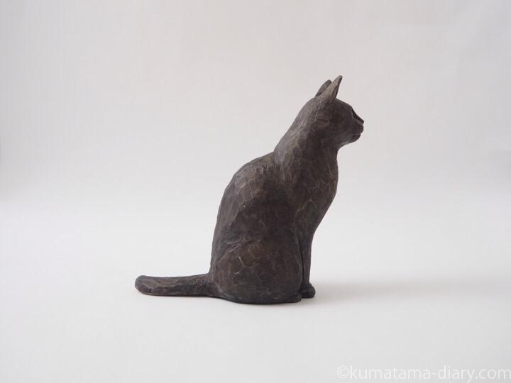 バーミーズ木彫り猫右