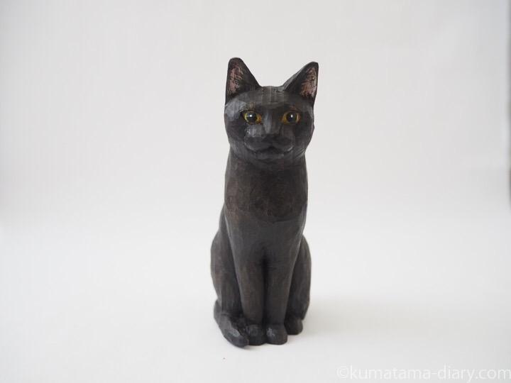 ふみお木彫り猫