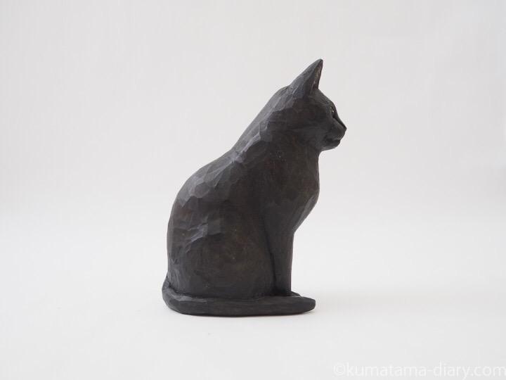 ふみお木彫り猫右