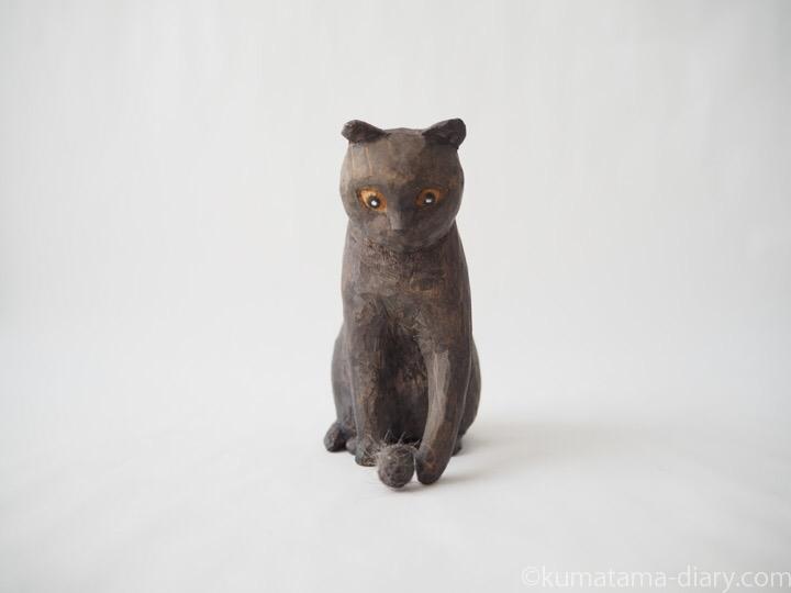 グレースコティッシュ木彫り猫木彫り猫