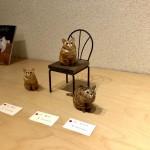 バンナイリョウジ個展「小さな木彫りのねこ6」を見に行きました