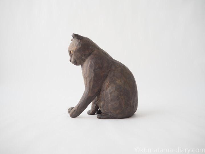 グレースコティッシュ木彫り猫木彫り猫左