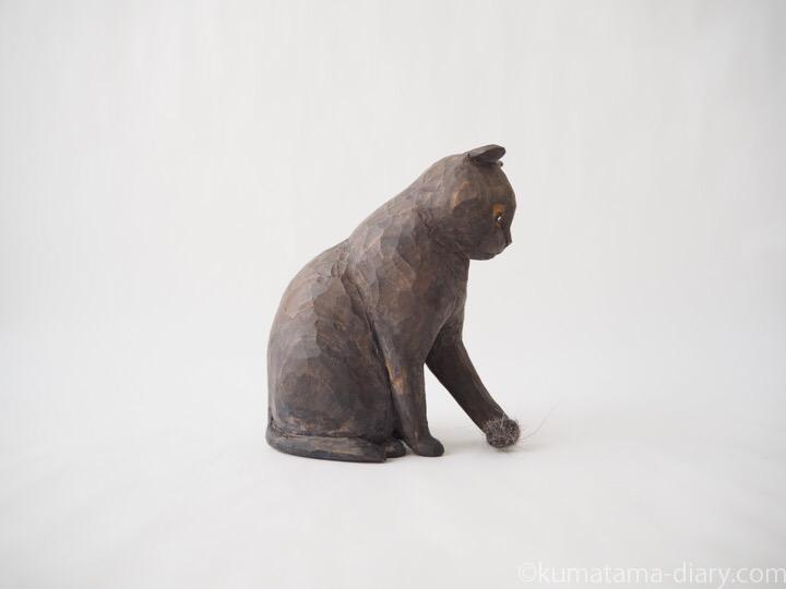 グレースコティッシュ木彫り猫木彫り猫右