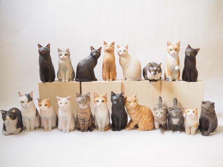 木彫り猫たち