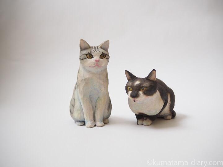 シナ木彫り猫木彫り猫