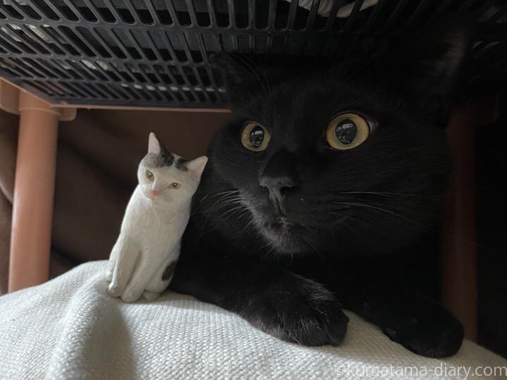 ふみおと木彫り猫木彫り猫