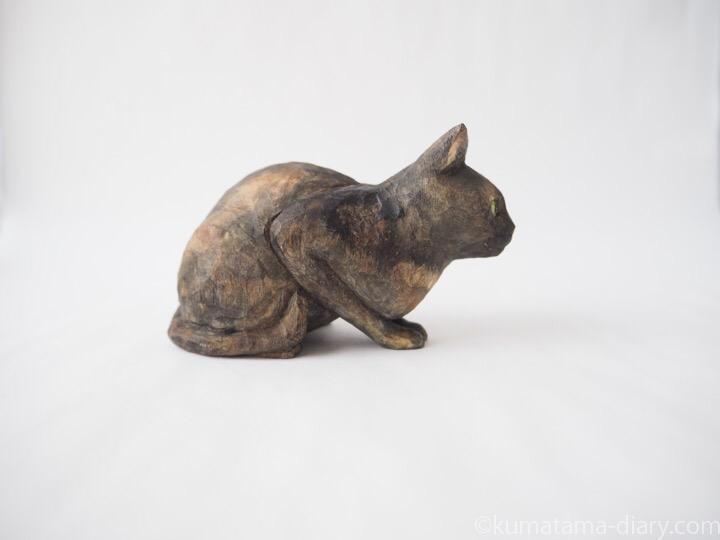 サビ猫さん木彫り猫右