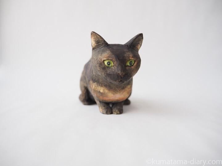 サビ猫さん木彫り猫