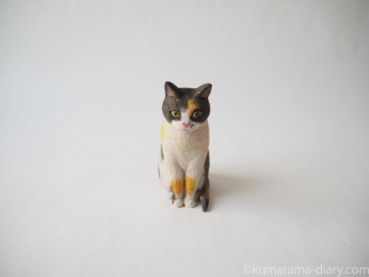 三毛猫さん木彫り