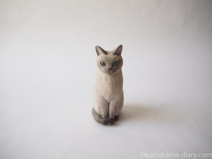 トンキニーズ木彫り猫