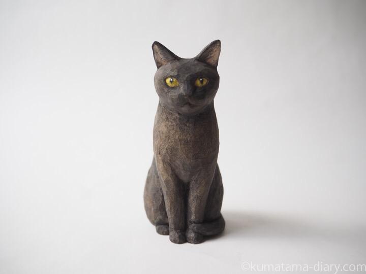 黒猫さん木彫り猫