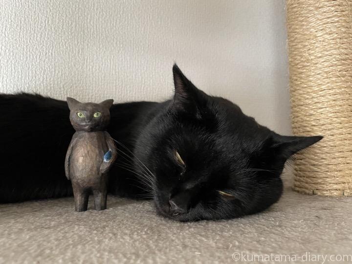 木彫り猫とふみお
