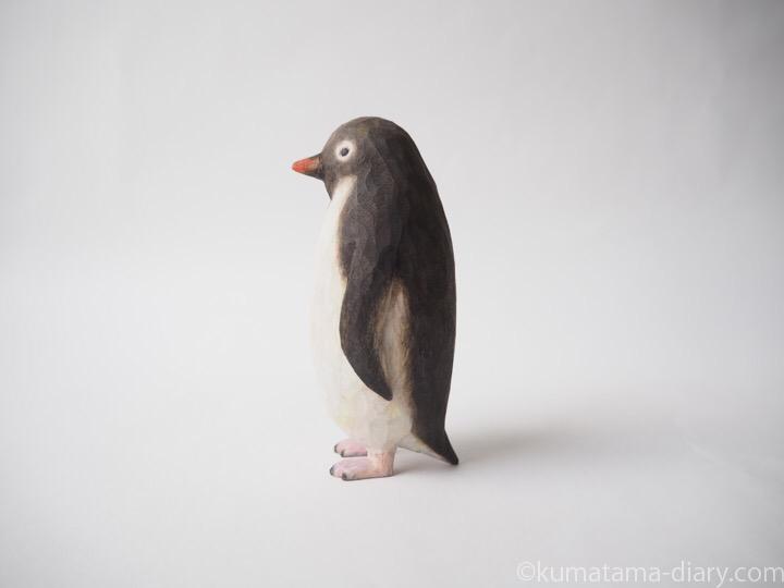 ペンギン木彫り左