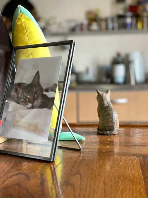 ミーメさん木彫り猫