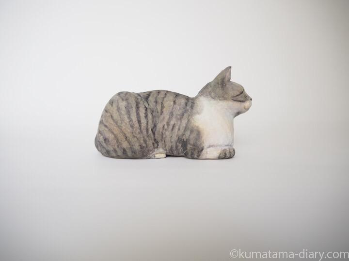 ミードくん木彫り猫右